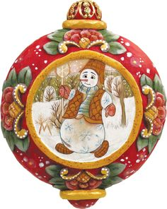 Features:  -Comes in a beautiful decorative gift box.  -Made in the USA.  Product Type: -Shaped ornament.  Theme: -Snowman.  Color: -Multi-color.  Country of Manufacture: -United States.  Primary Mate