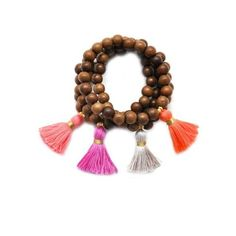 gold & gray jewelry Medium Wood Tassel Bracelet ($26) ❤ liked on Polyvore featuring jewelry, bracelets, bright coral, wood jewelry, wooden bangles, wooden jewelry, wood bangle and tassel jewelry