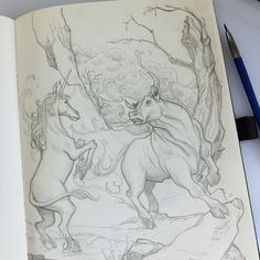 """the Last Unicorn"" Sketch Illustrator: © Carsten Odenthal / Odenthal Illustration"