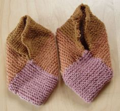 Norwegian Knitted Slipper Pattern..Has a different layout of the squares. these slippers will be felted.