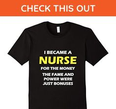 Mens Why I Became a Nurse - Funny T-Shirt 2XL Black - Careers professions shirts (*Amazon Partner-Link)