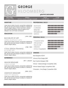 Great site for free CV templates, check it out!
