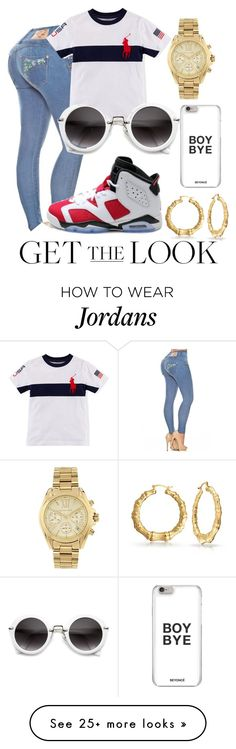 """""""Get the look"""" by couture-channel on Polyvore featuring NIKE, Michael Kors, Bling Jewelry, GetTheLook and airportstyle"""