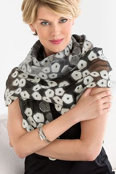 Alana Wrap by Elizabeth Rubidge: Felted Wrap available at www.artfulhome.com