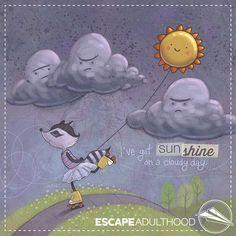I've Got Sunshine by Jason Kotecki #art #spring #raccoon #painting