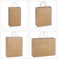 Natural Kraft Paper Shopping Bags – Shop Online Visit - http://www.boutiquebags.ca/store/c8/Natural_Kraft_Bags.html