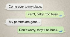 24 Texts from People Who Have No Time for All This Flirty Business