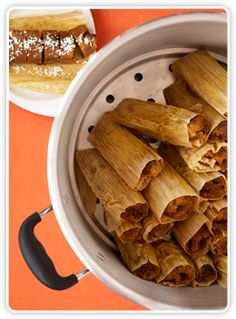 Holiday Must Have Pumpkin-Pie Tamales Recipe – Hispanic Kitchen...WoW I will be making these very soon!!! They sound yummy!!