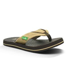 5330f14fdd50e Look at this Sanuk Natural Root Beer Flip-Flop - Big Kids on  zulily