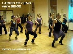 Salsa Ladies' Styling with Beige # 01 Shall We Dance, Just Dance, Salsa Videos, Salsa Dance Lessons, Dance Training, Dance Routines, Salsa Dancing, Learn To Dance, Latin Dance