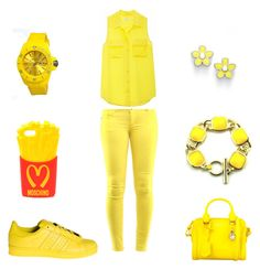 """sunny today"" by aaliyah5143 ❤ liked on Polyvore featuring Equipment, adidas, Moschino, Jet Set, Marc by Marc Jacobs and Alexander McQueen Mustard Yellow Sweater, Jet Set, Moschino, Sunnies, Marc Jacobs, Alexander Mcqueen, Adidas, Sweaters, Polyvore"