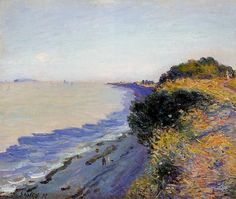 Bristol Channel from Penarth, Evening - Alfred Sisley - WikiArt.org