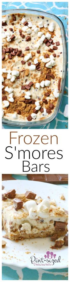Calling all s'mores fans! Try these fun frozen yogurt s'mores bars to...