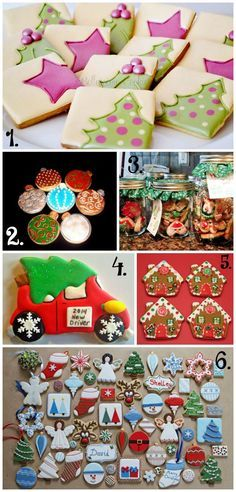 Christmas in July Cookie Collage-A Fun New Tradition Using Your Cookies via thebearfootbaker.com