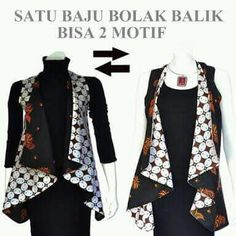 Batik Blazer, Blouse Batik, Batik Dress, Batik Fashion, Hijab Fashion, Fashion Dresses, Fasion, Outer Batik, Batik Kebaya