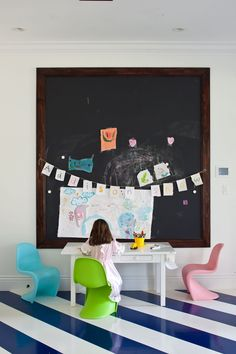 Create an inspiring art area for your kid.