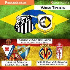 O Futebol Brasileiro está de volta! O Santos defende o titulo paulista! Além disso, a Liga BBVA ao rubro também tem prognósticos. Confiram:  http://www.apostaganha.com/2016/01/28/prognostico-apostas-santos-vs-sao-bernardo-campeonato-paulista-091111/  http://www.apostaganha.com/2016/01/30/prognostico-apostas-santos-vs-sao-bernardo-paulista-846543/  http://www.apostaganha.com/2016/01/28/prognostico-apostas-santos-vs-sao-bernardo-campeonato-paulista-01…