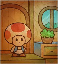 Paper Mario 64: First Toad House by Cavea.deviantart.com on @deviantART