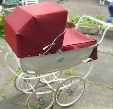 vintage silver cross dolls pram, then turn the wheels into a go-cart!!