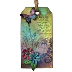 Let your creativity take flight when you make this tag with Perfect Pearls Pigment powders.