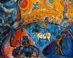 Marc Chagall [French, born Russia (present-day Belarus), The Circus Horse (Le cheval de cirque), Gouache and brush and India ink on paper, x inches x cm). Marc Chagall, Pablo Picasso, Chagall Paintings, Raoul Dufy, Most Famous Paintings, Frank Stella, Circus Art, A4 Poster, Naive Art