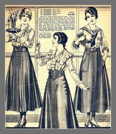1916 Sears catalog, skirts, all I could salvage of the page | Flickr - Photo Sharing!