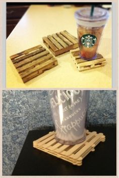 The Pinettes: DIY Coasters--if you make pallet furniture these would be so awesome.