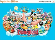 """ON SALE Counted Cross Stitch - Disneyland & characters- 35.43"""" x 23.43"""" - L844 by lovemystitch on Etsy https://www.etsy.com/listing/228271611/on-sale-counted-cross-stitch-disneyland"""
