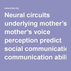 Neural circuits underlying mother's voice perception predict social communication abilities in children - 1602948113.full.pdf