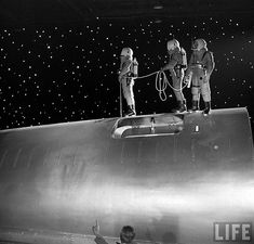 "Performing a Spacewalk ""Destination Moon"" (1950)"
