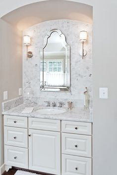 Beautiful mirror!    Uttermost // Elise Frameless Beveled Wall Mirror - Large Arch Design