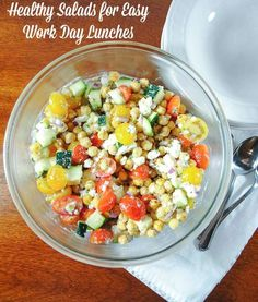 Healthy Lunch Salads | Crunchy, colorful salads are my best bet for a healthy, lower calorie work day lunch. @krimkus