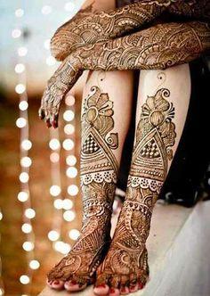 Full Arm & Leg Mehndi Design 2013
