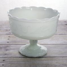 Great for DIY centerpieces E.O. Brody Milk Glass Compote