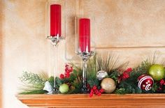 Christmas fireplace mantel decor