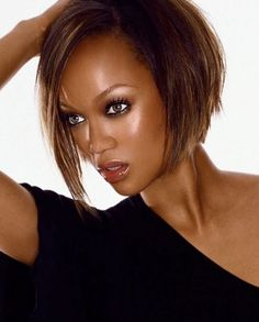 Short Bob Hairstyle Inspirations 2018 Hair Tyra Banks Hair with dimensions 1000 X 1250 Tyra Banks Bob Hairstyle - Today, so many people are taking care of Bob Hairstyles 2018, Cute Bob Hairstyles, Layered Bob Hairstyles, Short Bob Haircuts, Elegant Hairstyles, Black Hairstyles, Tyra Banks Short Hair, Bob Haircut 2018, Pixie Haircut