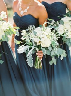 Whimsical + Elegant Oregon Ranch Wedding - Organic bridesmaid bouquets: Photography : Ivy And Gold Read More on SMP: www. Star Wedding, Blue Wedding, Wedding Bells, Fall Wedding, Wedding Flowers, Dream Wedding, Wedding Colors Teal, Teal Wedding Bouquet, Elegant Wedding