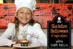 See how to make these adorable cupcakes! Halloween Cupcakes, Halloween Treats, Cupcake Youtube, Fall Vacations, Fall Projects, Halloween 2016, Halloween Skeletons, Fall Crafts, Fall Recipes