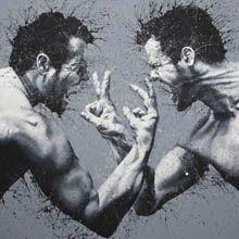 O artista de Milão Paolo Troilo cria impressioantes pinturas usando apenas os dedos. A marca registrada de Troilo é o preto e branco.