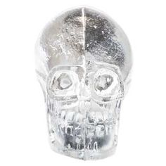 Okay, again, not for the guest room, but, seriously, I need this, right?!  Clear Glass Skull Knob