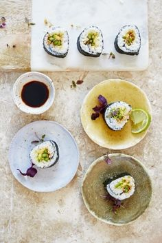 Asparagus Sushie from Jamie Oliver - the perfect treat for any party. It is a flavour bouquete you want to enjoy.
