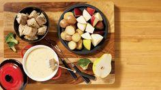 Fondue aux deux fromages OKA. #recette #IGA #fondue #fromage #oka #stvalentin