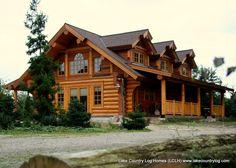 www.lakecountrylog.com    Custom Handcrafted Western Red Cedar Log Cabin Home