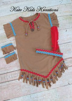 Girl's Native American Inspired Indian Costume Made to American Indian Costume, Indian Costumes, Diy Costumes, Halloween Costumes, Indian Birthday Parties, Indian Party, Sacajawea Costume, Pony Party, Indiana