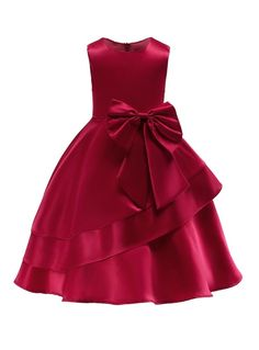 In Stock:Ship in 48 Hours Navy Blue Satin Flower Girl Dress With BowFloral Dress Evening Party Dress Sleeve Length(cm): Sleeveless Model Number: N/A Silhouette: Ball Gown Material: Polyester,Cotton Style: European and American Style Dresses Length: M Girls Formal Dresses, Little Girl Dresses, Blue Dresses, Girls Party Dress, Flower Girl Dresses Burgundy, Dressy Dresses, Elegant Dresses, African Dresses For Kids, Princess Ball Gowns