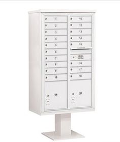 4C Pedestal Mailbox (Includes 13 Inch High Pedestal and Master Commercial Locks) - 15 Door High Unit (70-1/4 Inches) - Double Column - 18 MB1 Doors / 2 PL5 - White by Salsbury Industries. $1564.08. 4C Pedestal Mailbox (Includes 13 Inch High Pedestal and Master Commercial Locks) - 15 Door High Unit (70-1/4 Inches) - Double Column - 18 MB1 Doors / 2 PL5 - White - Salsbury Industries - 820996454713. Save 26% Off!