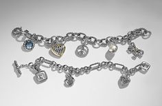 David Yurman Charm Bracelet