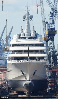 Title holder: Roman Abramovich's Eclipse is said to be the most expensive personal yacht in the world