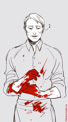 Hanniabal. (Not actually part of the fandom, but I like the contrast with the red and the white to much not to pin it.)