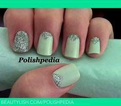 #Mint Triangle #Manicure   #Polishpedia X.'s (polishpedia) Photo   Beautylish
